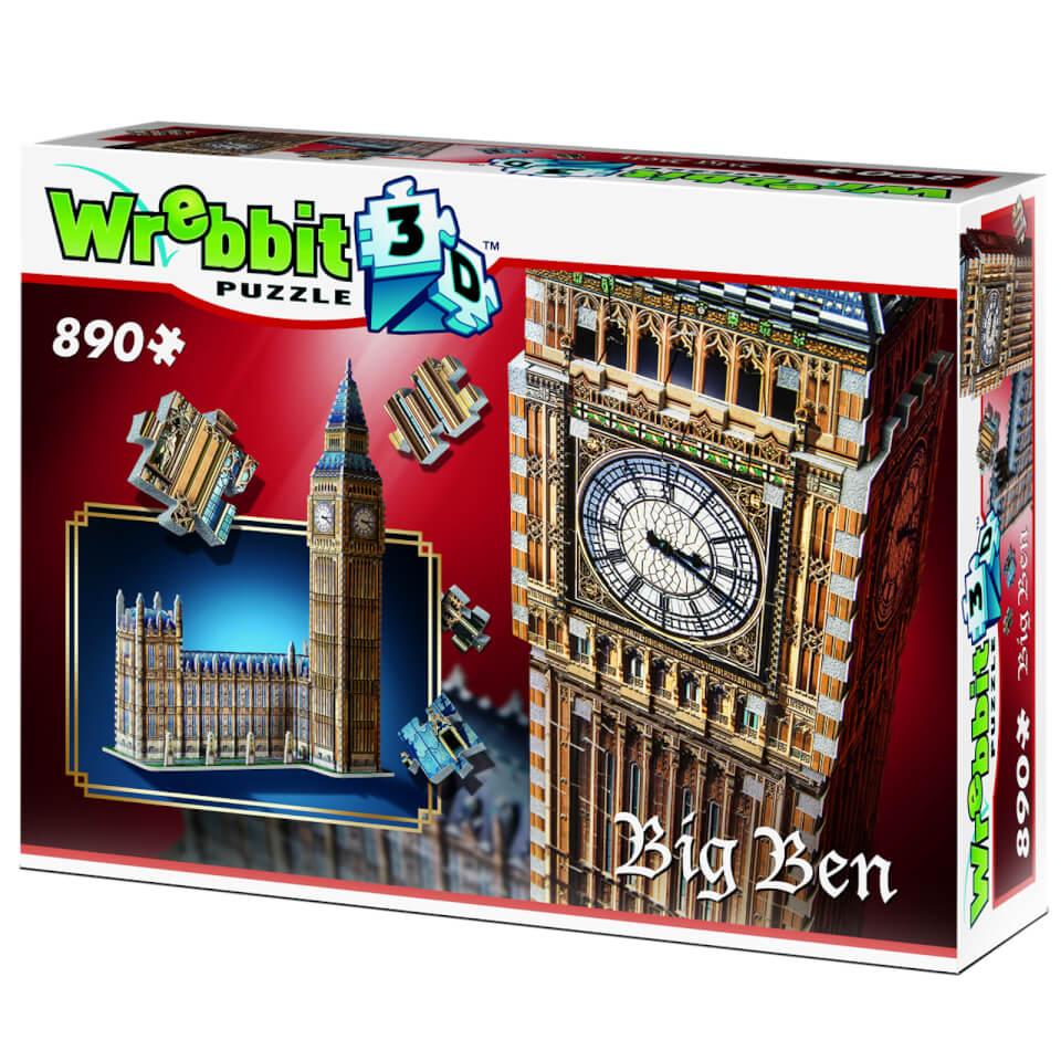 Wrebbit Big Ben und Parliament 3D Puzzle (890 Stücke)