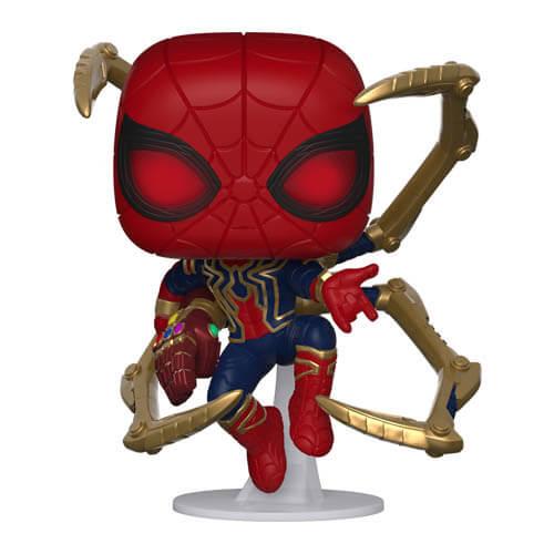 Nützlichfanartikel - Marvel Avengers Endgame Iron Spider mit Nano Gauntlet Pop! Vinyl Figur - Onlineshop Sowas Will Ich Auch