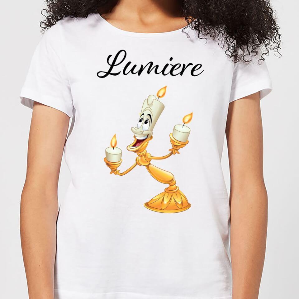 Nützlichfanartikel - Disney Beauty And The Beast Lumiere Women's T Shirt White 4XL - Onlineshop Sowas Will Ich Auch