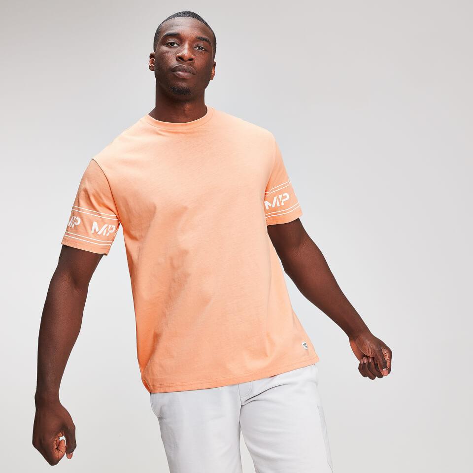 Myprotein Graphic Sleeve Logo T Shirt til Mænd Cantaloupe