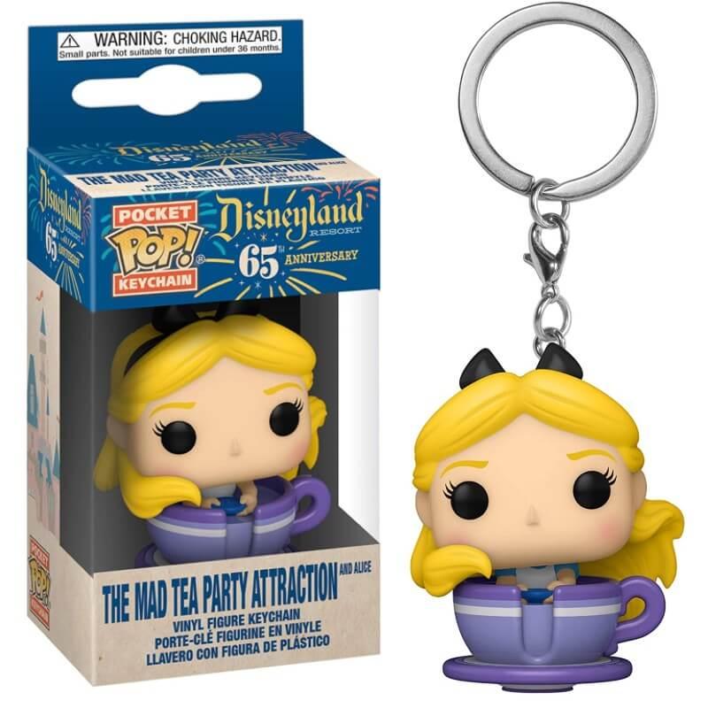 Vinyl Keychain Pop Alice in Teacup Figure Standard Disney 65