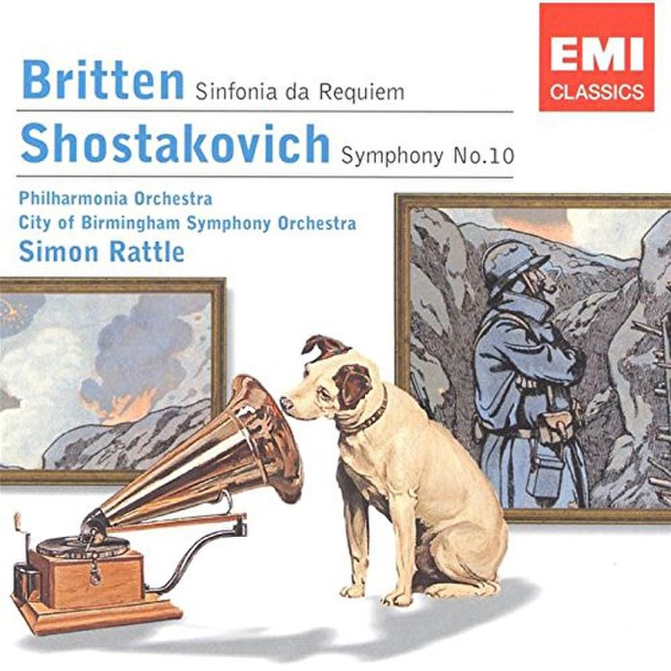 brittenshostakovich-sinfonia-da-requiemsymphony-10-rattle