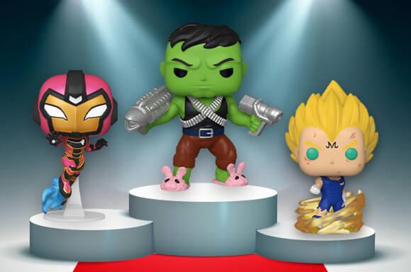 🥇Professor Hulk EXC!<br><br>🥈Iron Heart with GITD Chase EXC! <br><br>🥉S8 Majin Vegeta!