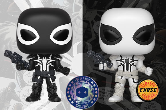 FIGURA FUNKO POP! EXCLUSIVA POP IN A BOX AGENTE VENOM