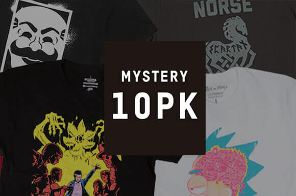 10 MYSTERY GEEK T-SHIRTS FOR JUST £34.99!