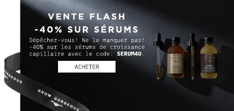 vente flash: -40% sur les sérums
