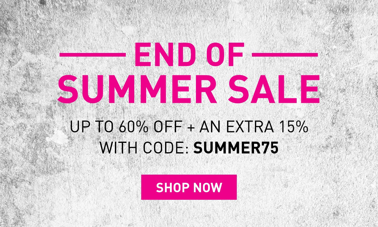 Up to 60% off + extra 15% off with code: SUMMER75