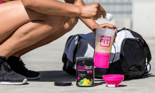 IdealFit pre-workout and shaker