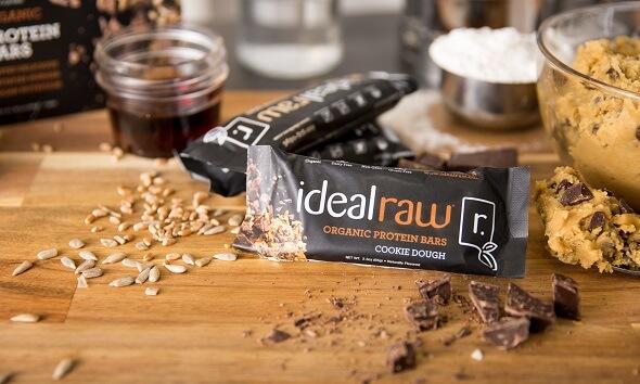 IdealRaw Organic Protein Bars Cookie Dough