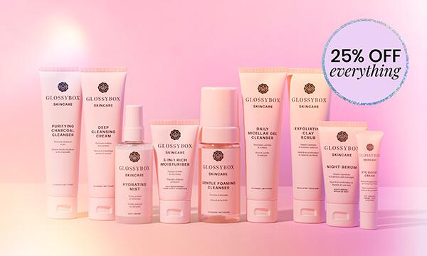 -25% sur GLOSSYBOX Skincare