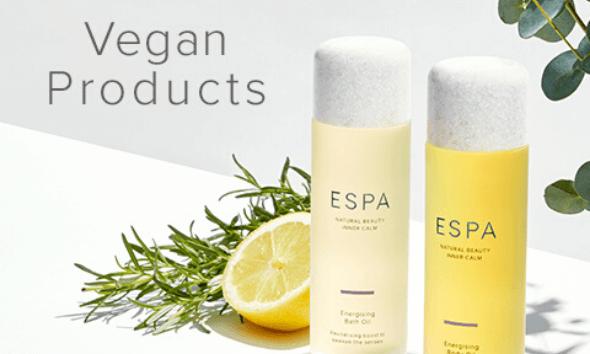 ESPA's Vegan products
