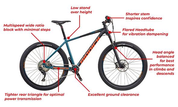 Riddick Mountain Bike Features