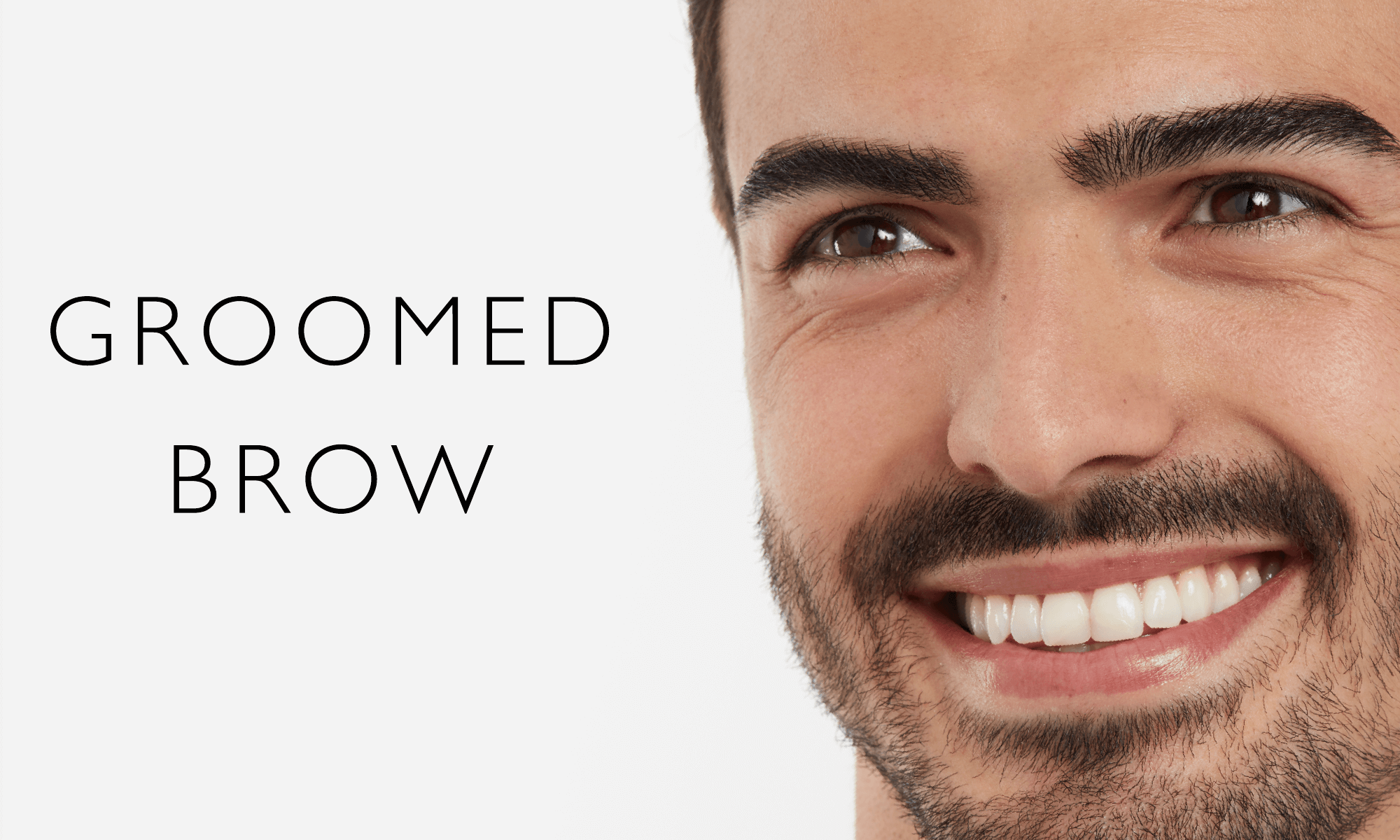 groomed brows