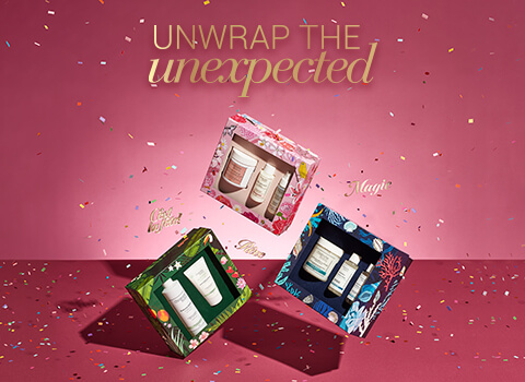 Unwrap the unexpected - 3 gift sets