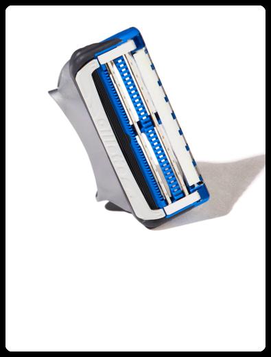 Close-up of SkinGuard Sensitive Razor Blades