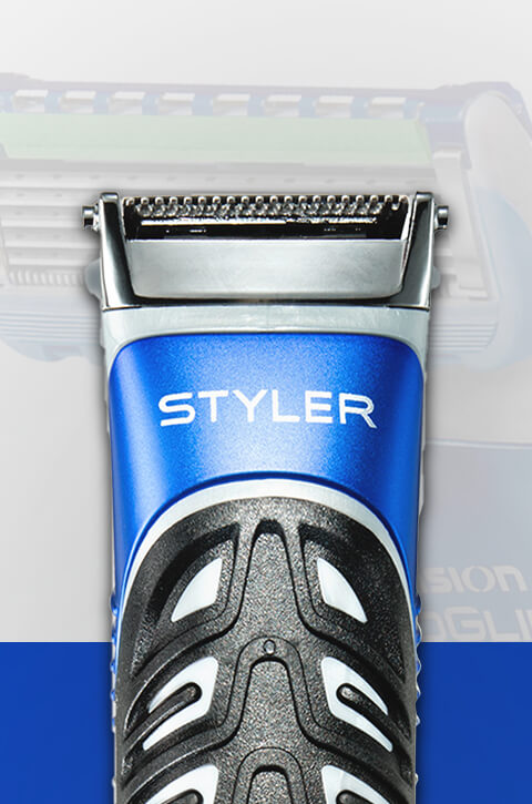 Gillette Styler - waterproof and engineered by Braun.