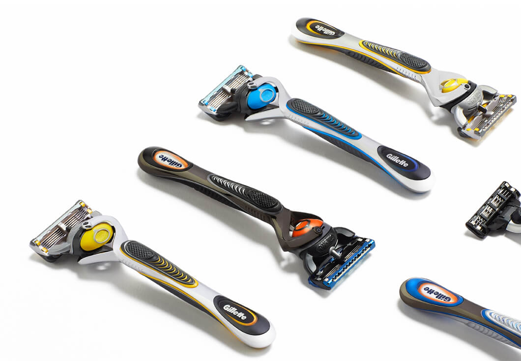The Gillette razor range
