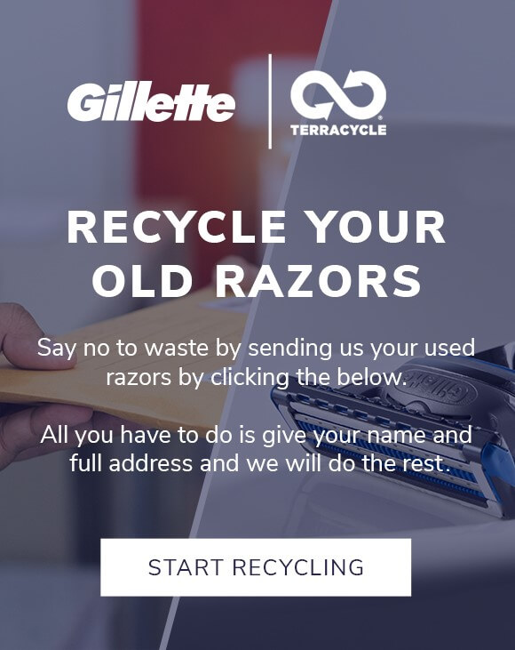 Recycle Your Razor Blades - Say no to waste by sending us your used razors by clicking below. All you have to do is give your name and full address and we will do the rest.