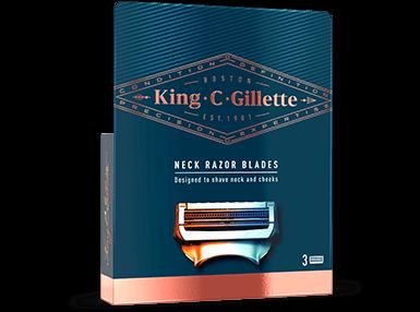 King C. Gillette Neck Razor Blades