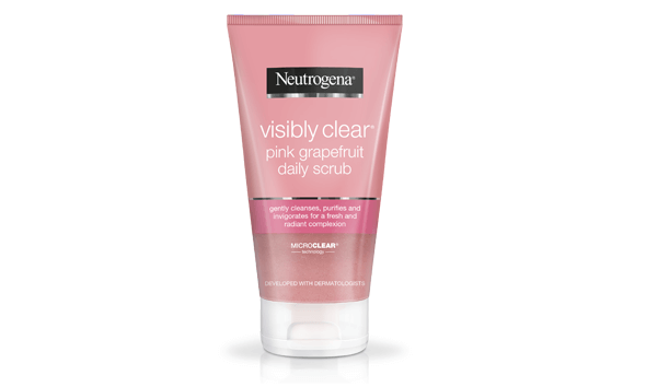 visibly clear pink grapefruit daily scrub 150ml
