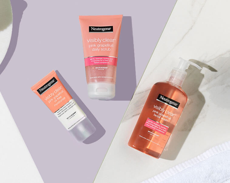 Pink Grapefruit. Powered by Microclear® technology, Pink Grapefruit helps to clear imperfections and remove impurities for a fresh, radiant complexion.