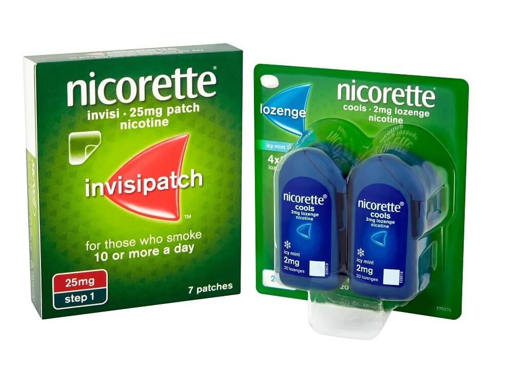 NICORETTE®  InvisiPatch  + NICORETTE® Cools Lozenge  £93.54 per month*