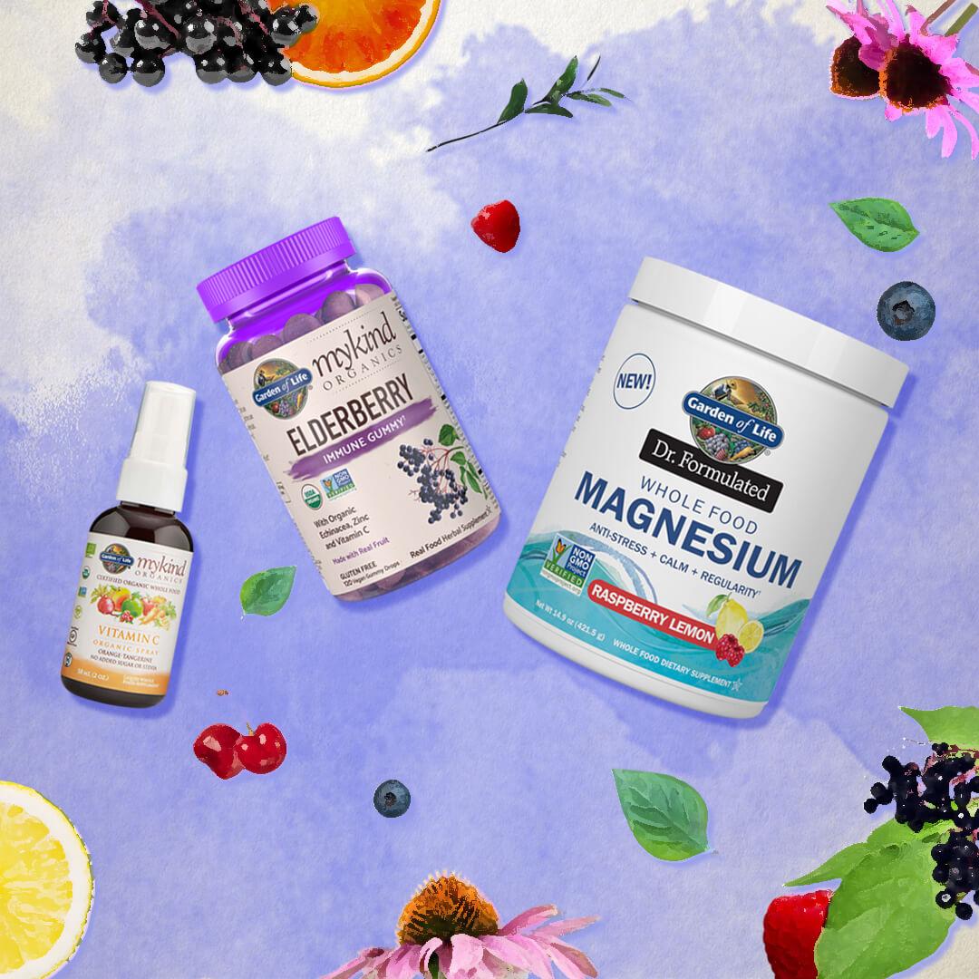 私たちのビタミン&サプリメントは全て本物のオーガニックフードから作られています。