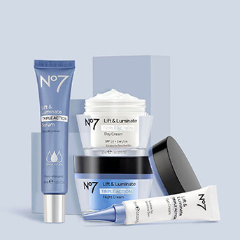 No.7 Lift & Luminate Range: Serum, Eye Cream, Night Cream and Day Cream
