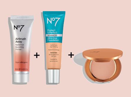 Buy a primer, foundation & bronzer and enjoy 15% off.