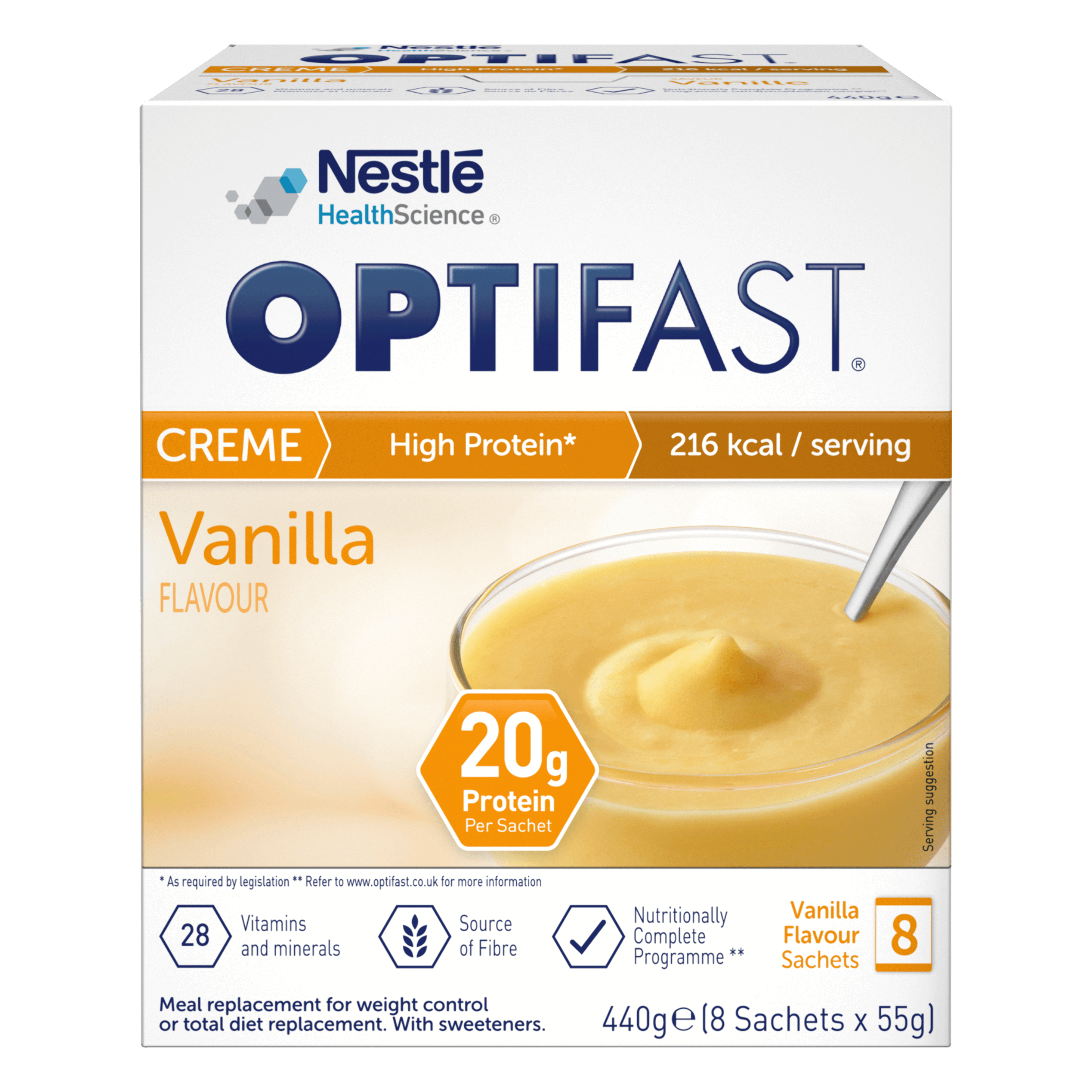 Image of the vanilla flavour OPTIFAST creme