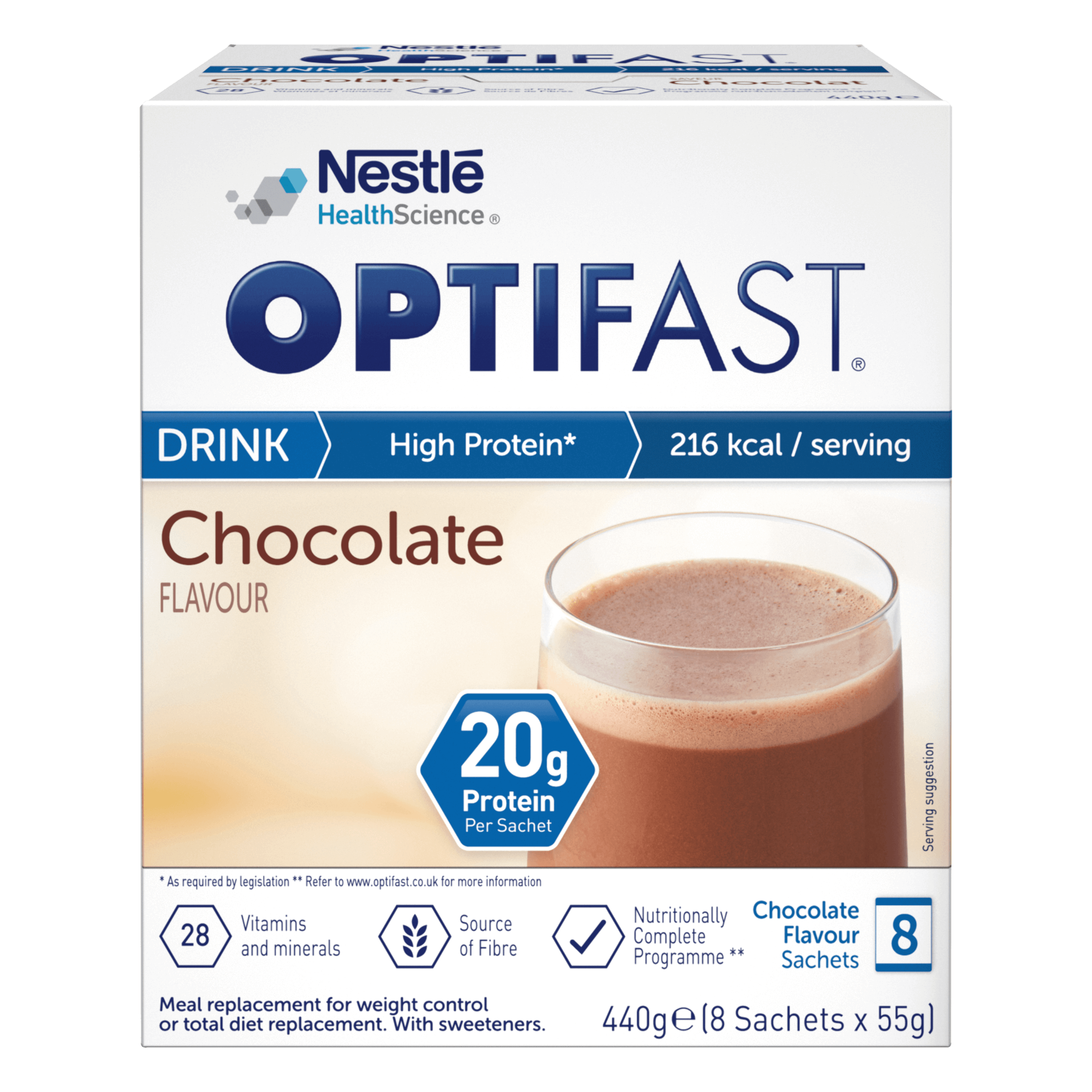Image of the chocolate flavour OPTIFAST drink