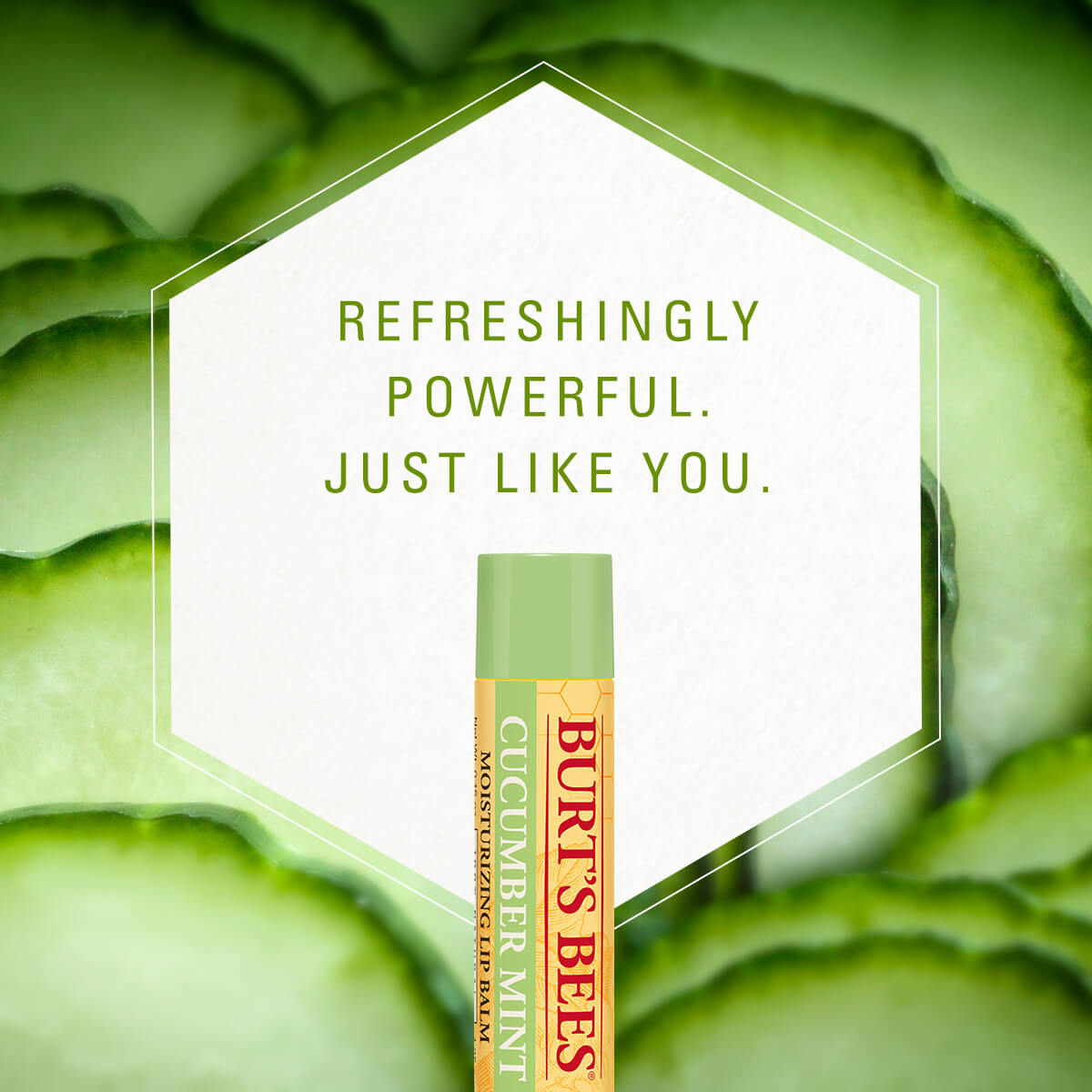cucumber mint, refreshingly powerful. just like you