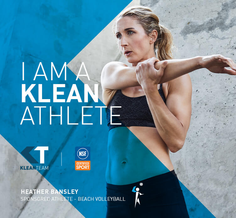 I am a Klean Athlete. Heather Banksley. Sponsored Athlete - Beach Volleyball.