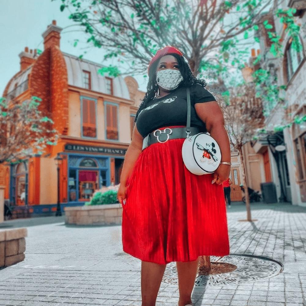 Loungefly Disney Mickey Mouse Clock Hands Crossbody Bag