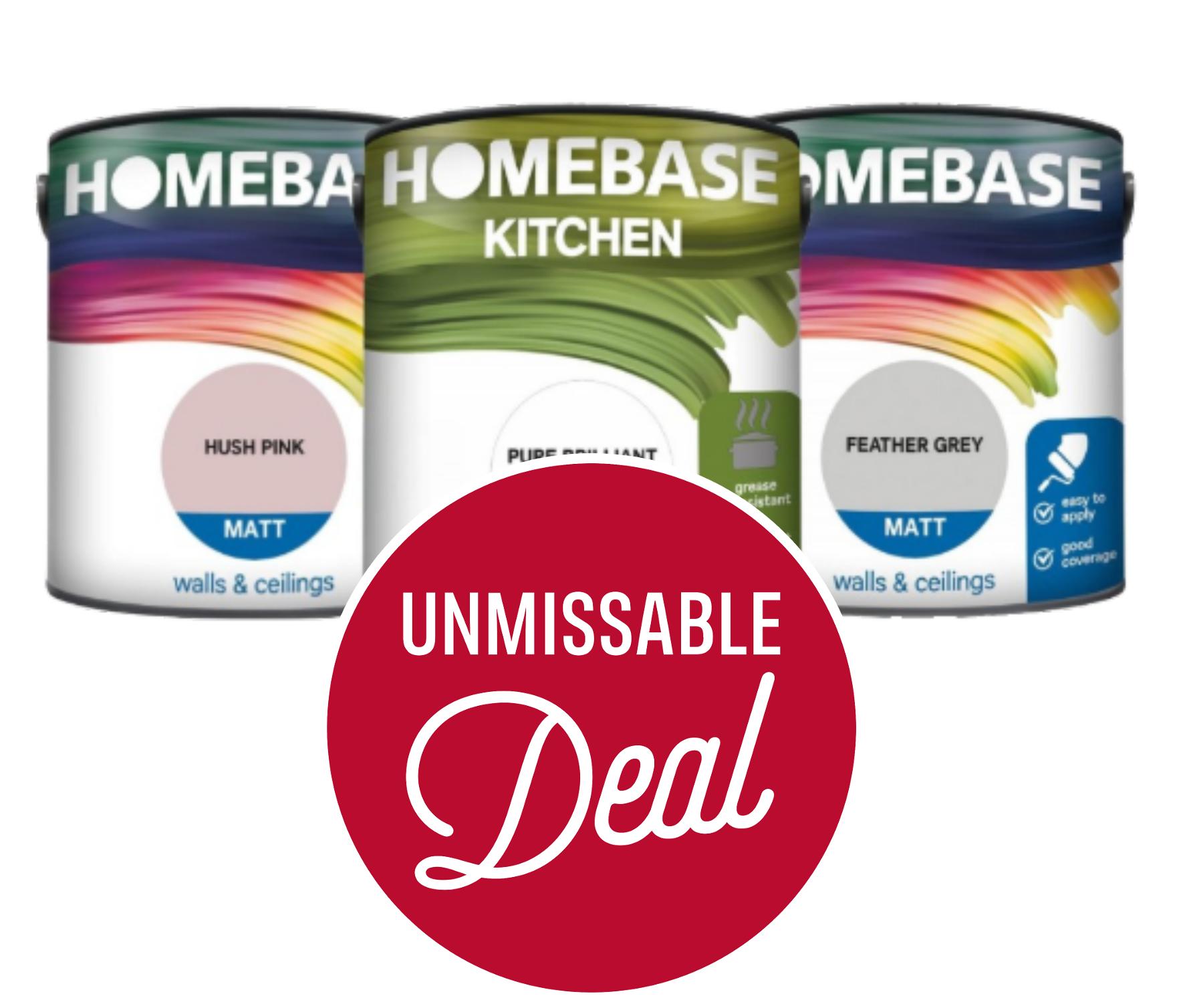 Buy One Get One Half Price on Homebase Coloured Emulsion