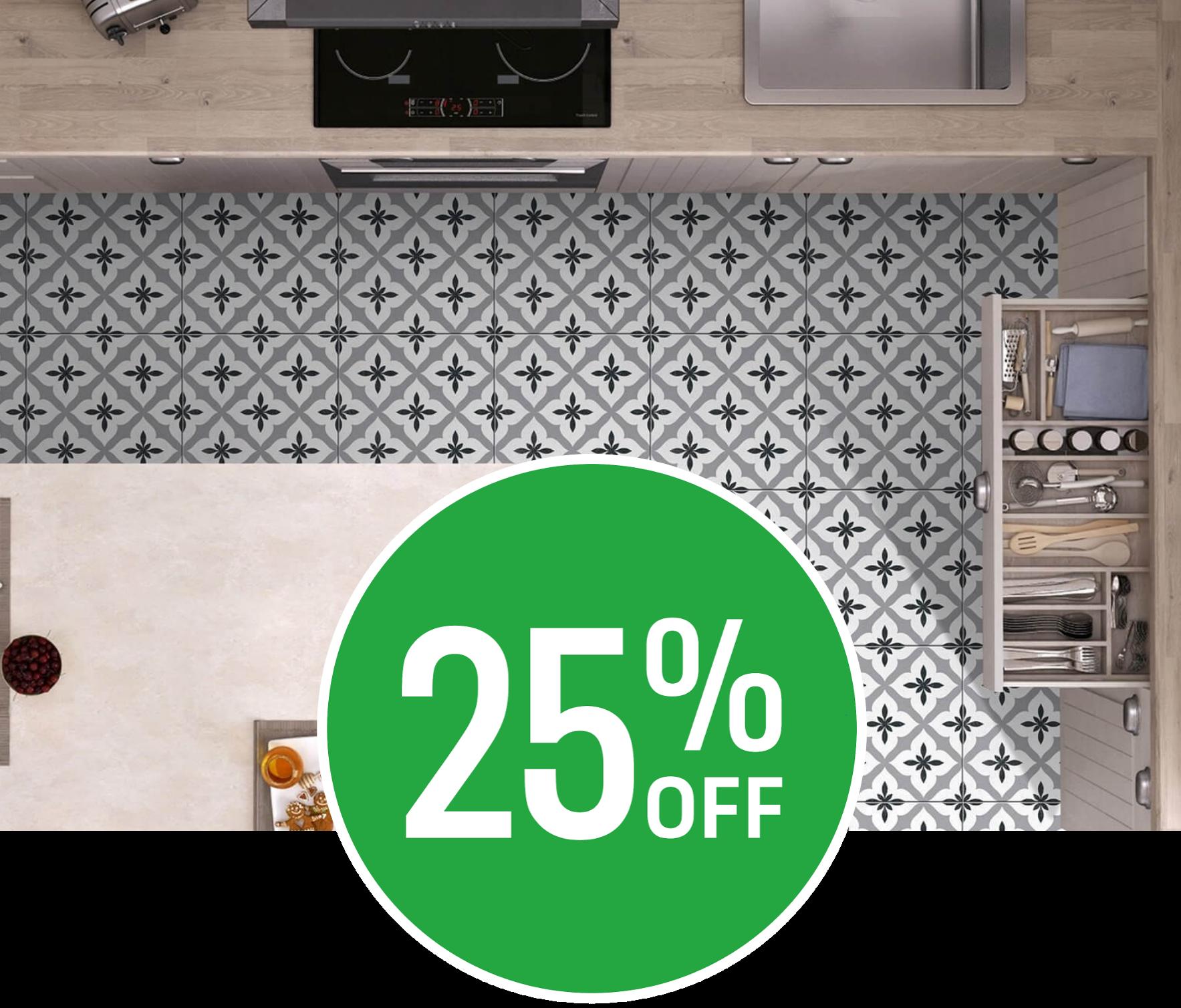 25% off 4 Seasons Grey Floor Tile - 33x33