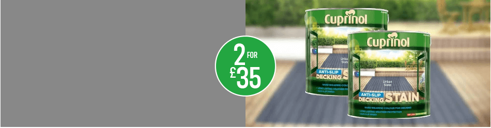 2 for £35 - Cuprinol decking stain