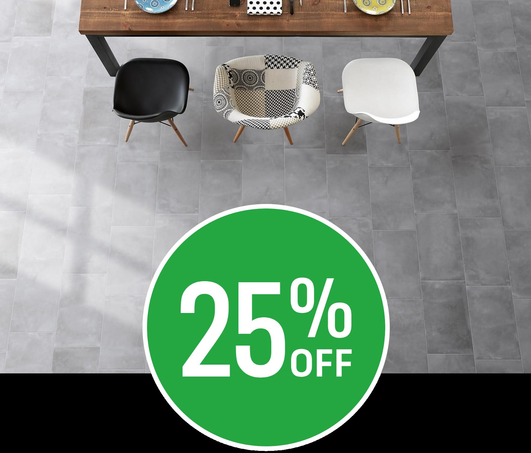 25% off Metropolitan Grey Multi Use Tile - 30x60cm - 6 pack