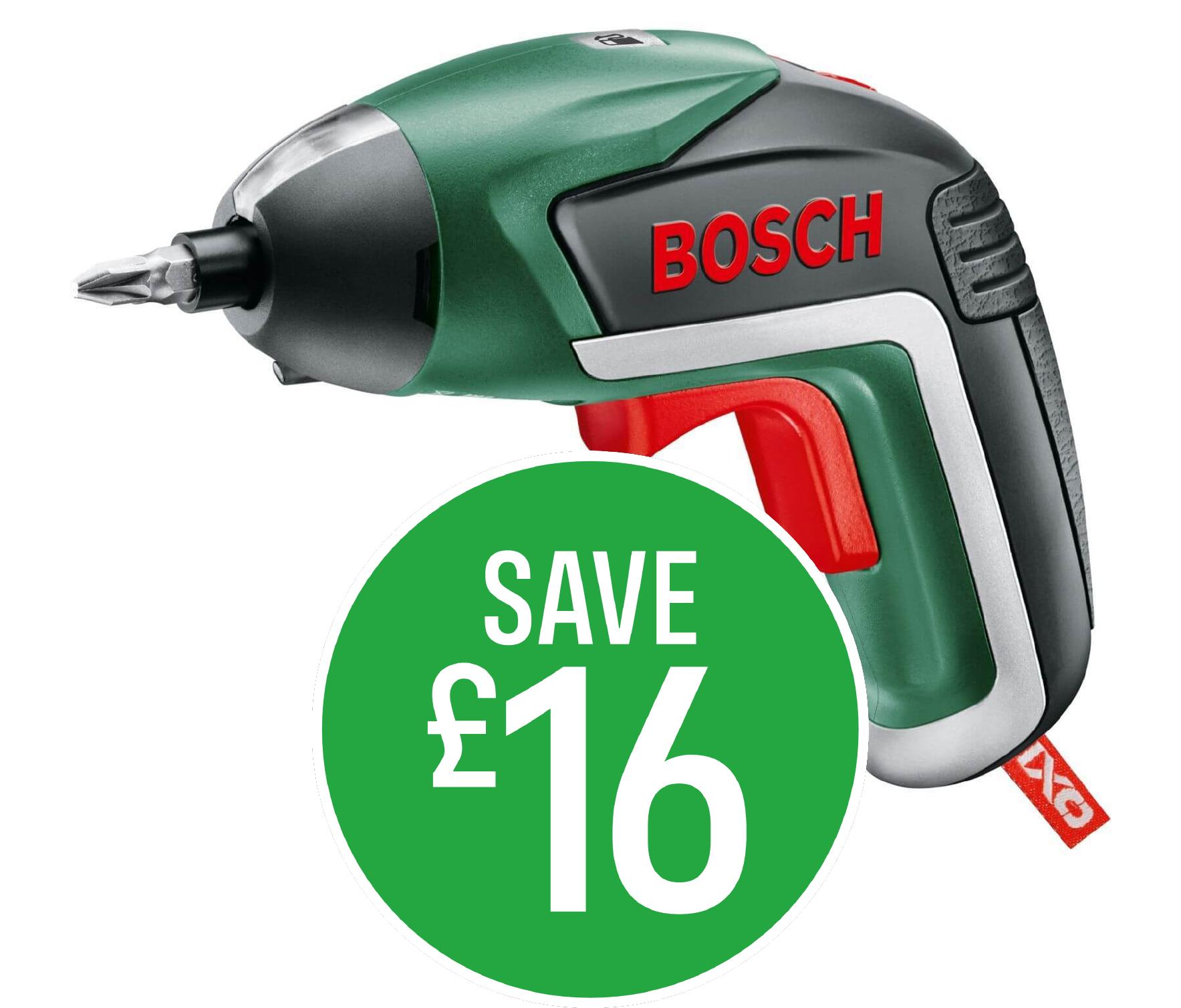 Save £16 on Bosch IXO 3.6V Screwdriver
