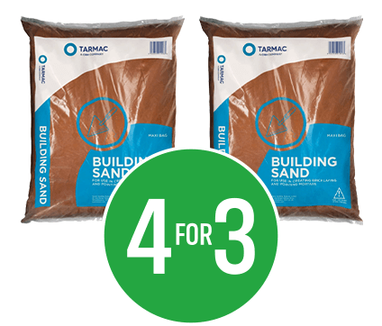 Get 4 for the price of 3 on Tarmac Building Sand