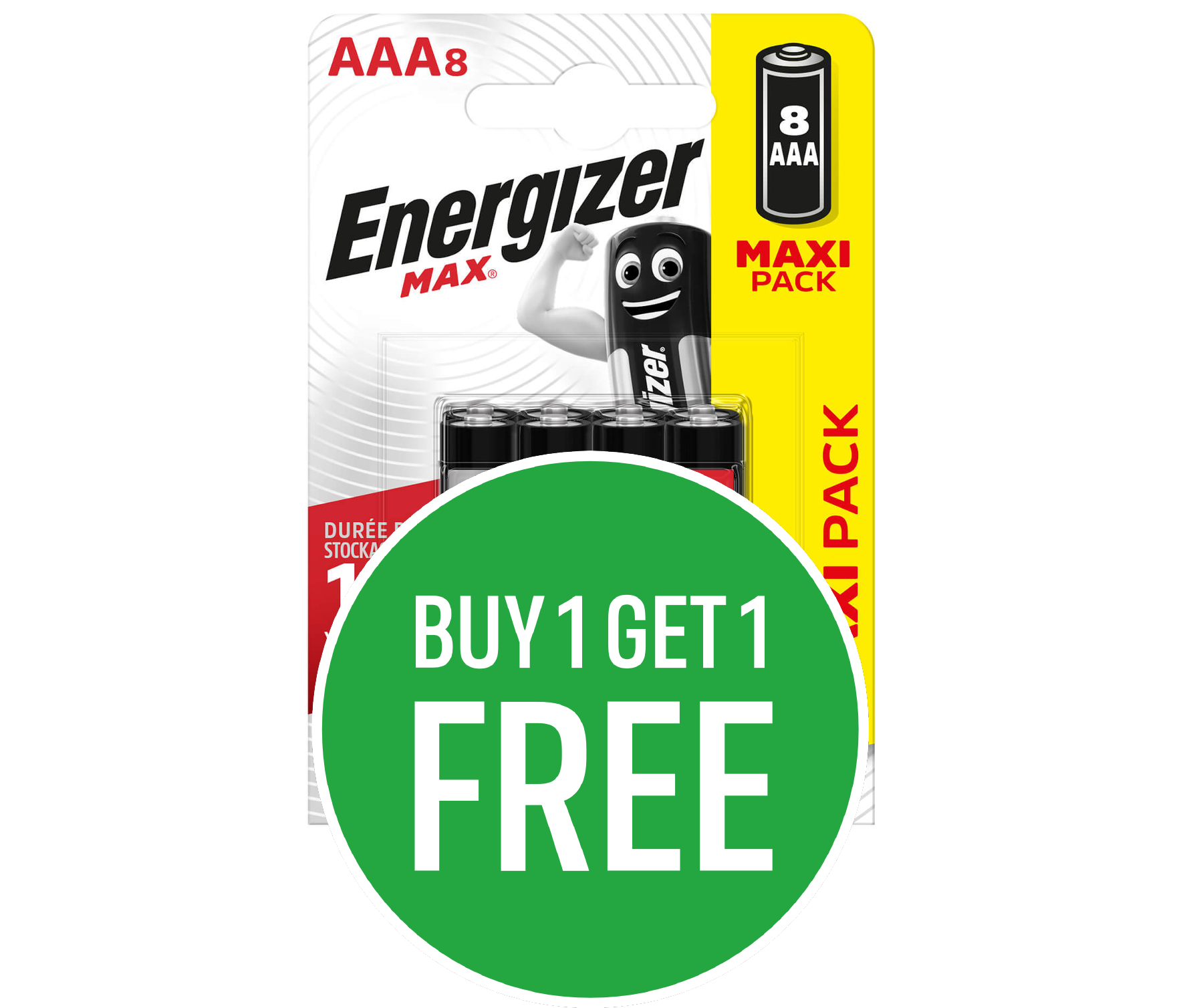 Buy One Get One Free on Energizer MAX Alkaline AA/AAA Batteries - 8 Pack Mix and Match