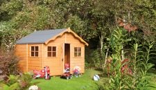 Wooden shed in the garden
