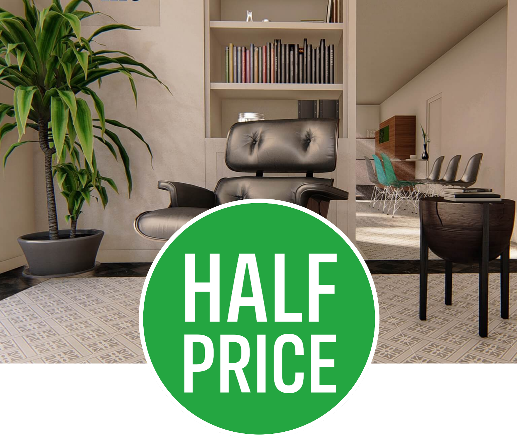 50% off Windsor Grey Floor & Wall Tile - 33x33