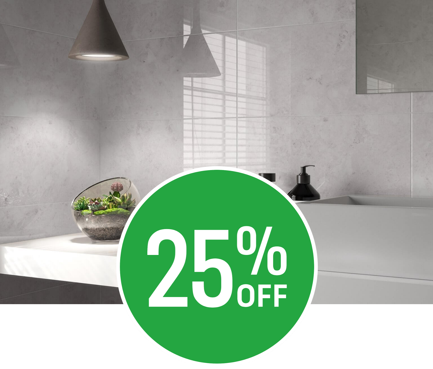 25% off Modena Salt Wall Tile - 25x50