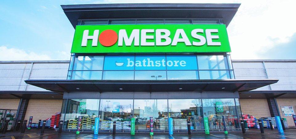 Homebase store front entrance