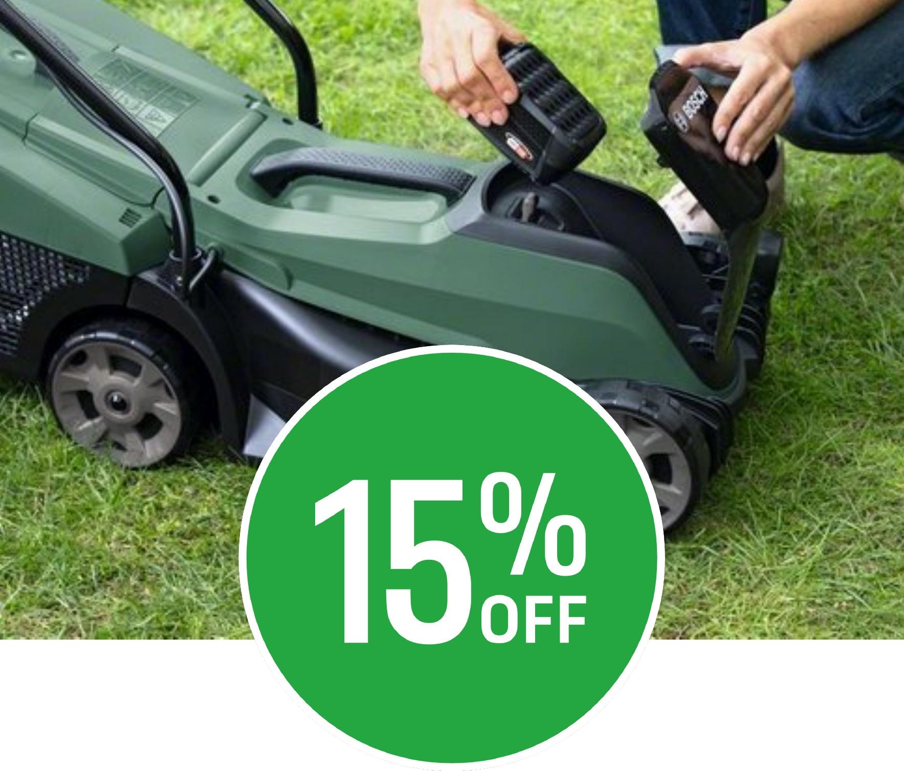15% off Bosch Garden Power