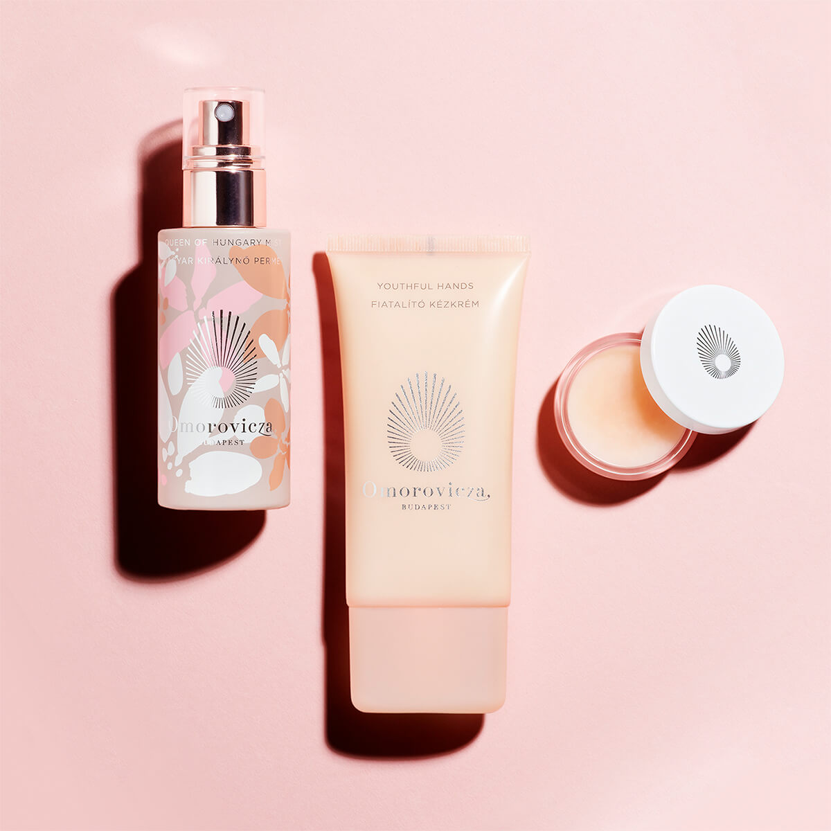 Youthful hands, lip gloss and queen of hungary mist