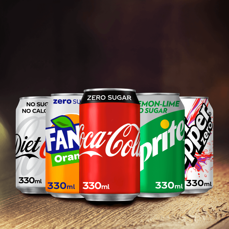 A collection of Zero-Sugar drinks