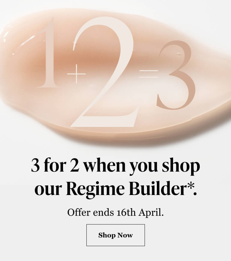 3 for 2 when you shop our Regime Builder*