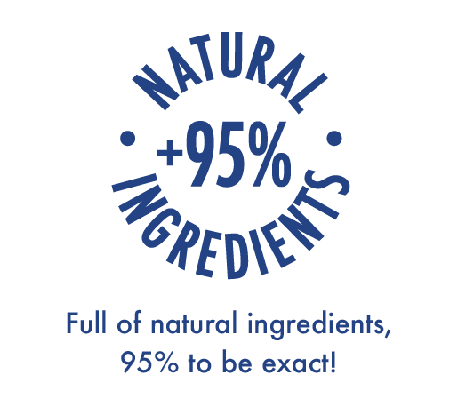 full of natural ingredients, 95% to be exact